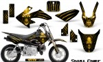 Honda CRF50 CreatorX Graphics Kit Skull Chief Yellow 150x90 - Honda CRF50 2004-2015 Graphics