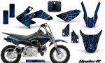 Honda CRF50 CreatorX Graphics Kit SpiderX Blue 150x90 - Honda CRF50 2004-2015 Graphics
