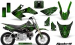 Honda CRF50 CreatorX Graphics Kit SpiderX Green 150x90 - Honda CRF50 2004-2015 Graphics