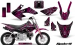 Honda CRF50 CreatorX Graphics Kit SpiderX Pink 150x90 - Honda CRF50 2004-2015 Graphics