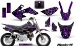 Honda CRF50 CreatorX Graphics Kit SpiderX Purple 150x90 - Honda CRF50 2004-2015 Graphics