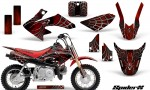 Honda CRF50 CreatorX Graphics Kit SpiderX Red 150x90 - Honda CRF50 2004-2015 Graphics