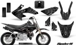 Honda CRF50 CreatorX Graphics Kit SpiderX Silver 150x90 - Honda CRF50 2004-2015 Graphics