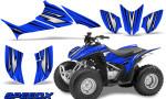 Honda TRX 90 Graphics Kit SpeedX Blue 150x90 - Honda TRX 90 2006-2020 Graphics