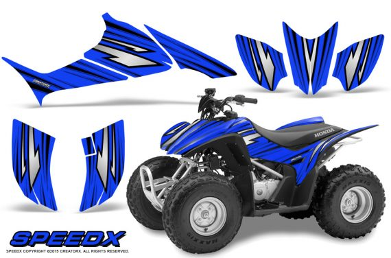 Honda TRX 90 Graphics Kit SpeedX Blue 570x376 - Honda TRX 90 2006-2020 Graphics