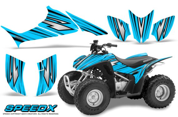 Honda TRX 90 Graphics Kit SpeedX BlueIce 570x376 - Honda TRX 90 2006-2020 Graphics