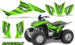 Honda TRX 90 Graphics Kit SpeedX Green 150x90 - Honda TRX 90 2006-2020 Graphics