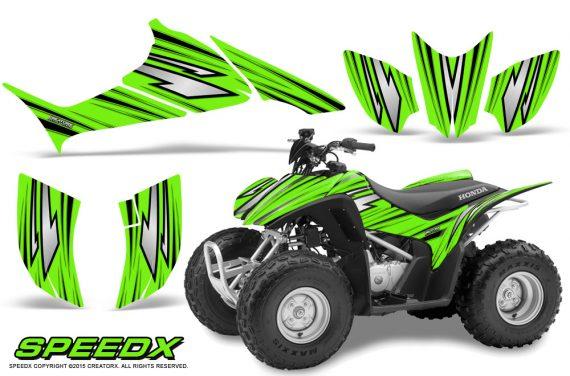Honda TRX 90 Graphics Kit SpeedX Green 570x376 - Honda TRX 90 2006-2020 Graphics