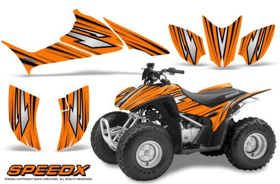 Honda TRX 90 Graphics Kit SpeedX Orange 570x376 - Honda TRX 90 2006-2020 Graphics