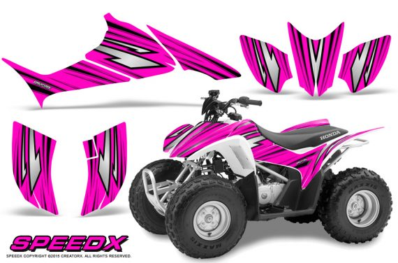 Honda TRX 90 Graphics Kit SpeedX Pink 570x376 - Honda TRX 90 2006-2020 Graphics