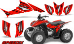Honda TRX 90 Graphics Kit SpeedX Red 150x90 - Honda TRX 90 2006-2020 Graphics