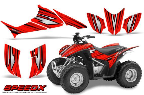Honda TRX 90 Graphics Kit SpeedX Red 570x376 - Honda TRX 90 2006-2020 Graphics