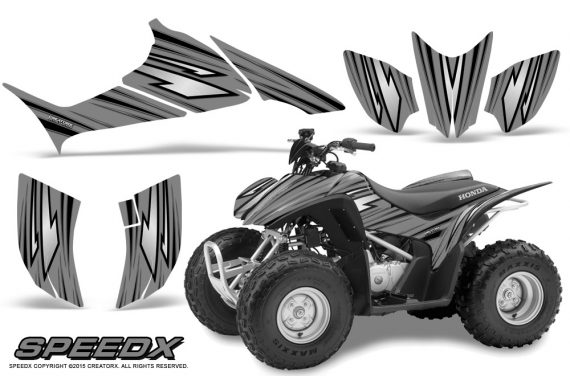 Honda TRX 90 Graphics Kit SpeedX Silver 570x376 - Honda TRX 90 2006-2020 Graphics