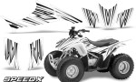 Honda TRX 90 Graphics Kit SpeedX White 150x90 - Honda TRX 90 2006-2020 Graphics