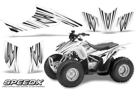 Honda TRX 90 Graphics Kit SpeedX White 570x376 - Honda TRX 90 2006-2020 Graphics