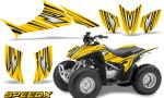 Honda TRX 90 Graphics Kit SpeedX Yellow 150x90 - Honda TRX 90 2006-2020 Graphics