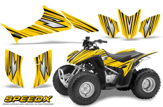 Honda TRX 90 Graphics Kit SpeedX Yellow 570x376 - Honda TRX 90 2006-2020 Graphics