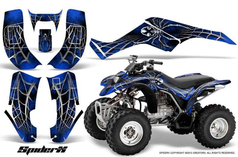 Honda-TRX250-02-05-CreatorX-Graphics-Kit-SpiderX-Blue