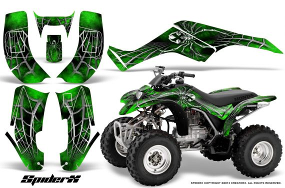 Honda TRX250 02 05 CreatorX Graphics Kit SpiderX Green 570x376 - Honda TRX 250EX 2002-2005 Graphics