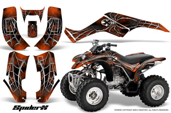 Honda TRX250 02 05 CreatorX Graphics Kit SpiderX Orange Dark 570x376 - Honda TRX 250EX 2002-2005 Graphics