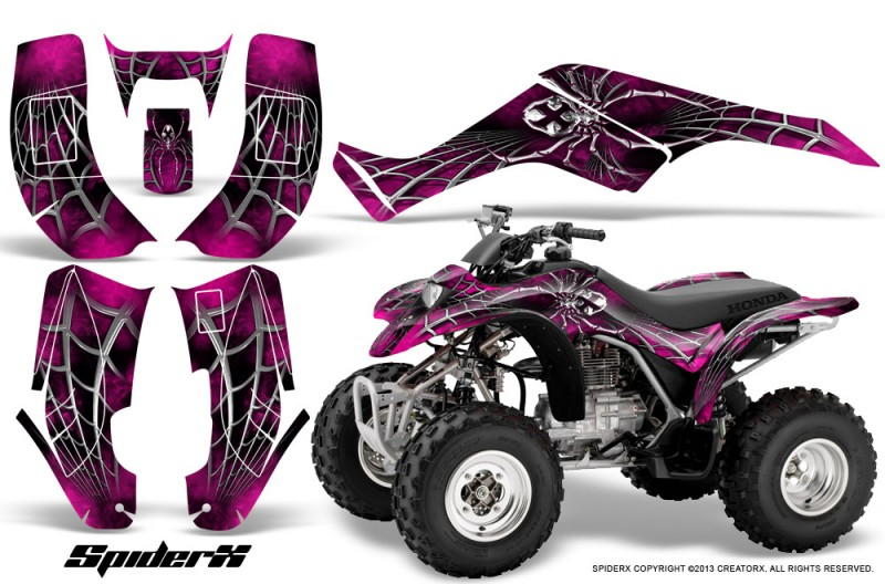 Honda-TRX250-02-05-CreatorX-Graphics-Kit-SpiderX-Pink-BB