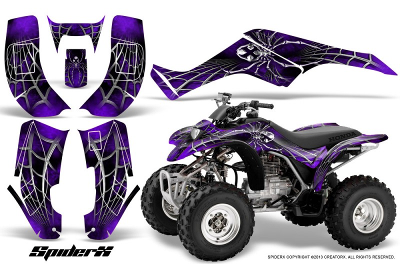 Honda-TRX250-02-05-CreatorX-Graphics-Kit-SpiderX-Purple