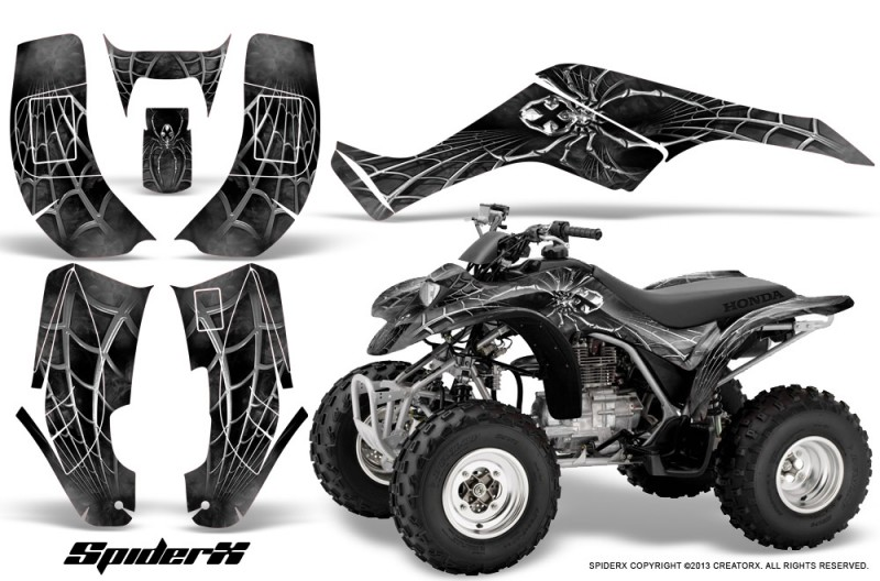 Honda-TRX250-02-05-CreatorX-Graphics-Kit-SpiderX-Silver