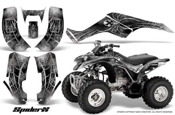 Honda TRX250 02 05 CreatorX Graphics Kit SpiderX White 570x376 - Honda TRX 250EX 2002-2005 Graphics
