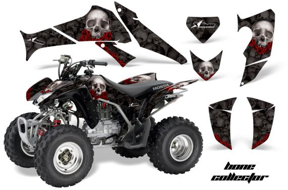 Honda TRX250 06 09 AMR Graphics BoneCollector Black RED JPG 570x376 - Honda TRX 250EX 2006-2018 Graphics