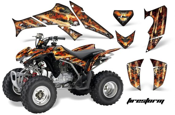 Honda TRX250 06 09 AMR Graphics Firestorm Black JPG 570x376 - Honda TRX 250EX 2006-2018 Graphics