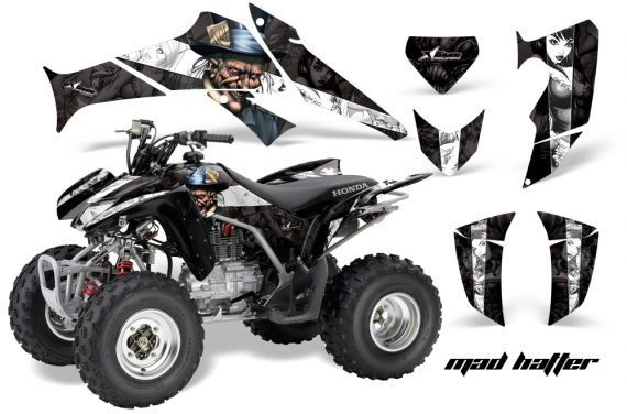 Honda TRX250 06 09 AMR Graphics MadHatter Black Whitestripe JPG 570x376 - Honda TRX 250EX 2006-2018 Graphics