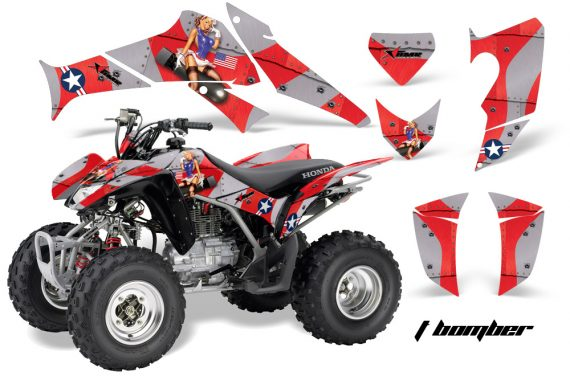 Honda TRX250 06 09 AMR Graphics Tbomber RED JPG 570x376 - Honda TRX 250EX 2006-2018 Graphics