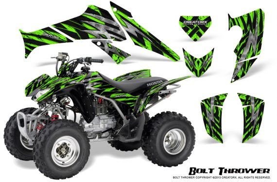 Honda TRX250 06 09 CreatorX Graphics Kit Bolt Thrower Green 570x376 - Honda TRX 250EX 2006-2018 Graphics