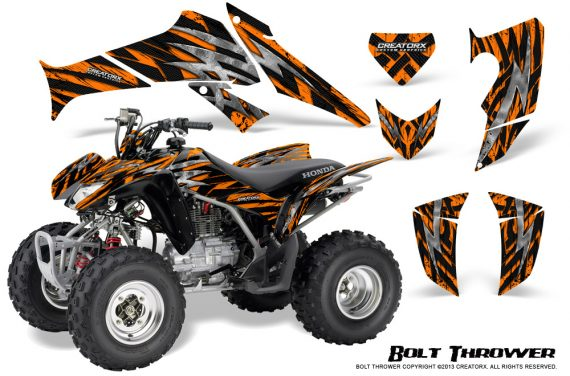Honda TRX250 06 09 CreatorX Graphics Kit Bolt Thrower Orange 570x376 - Honda TRX 250EX 2006-2018 Graphics