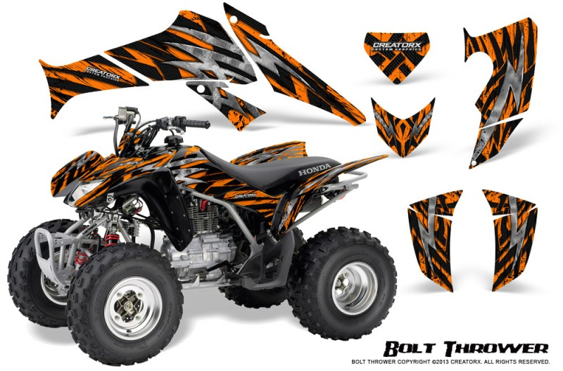 Honda-TRX250-06-09-CreatorX-Graphics-Kit-Bolt-Thrower-Orange