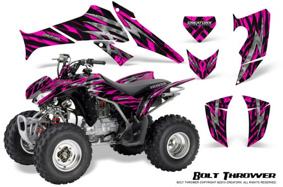 Honda TRX250 06 09 CreatorX Graphics Kit Bolt Thrower Pink 570x376 - Honda TRX 250EX 2006-2018 Graphics