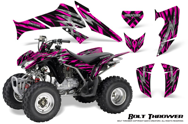 Honda-TRX250-06-09-CreatorX-Graphics-Kit-Bolt-Thrower-Pink