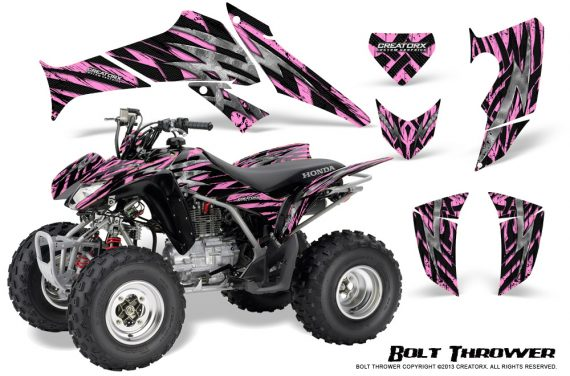 Honda TRX250 06 09 CreatorX Graphics Kit Bolt Thrower PinkLite 570x376 - Honda TRX 250EX 2006-2018 Graphics