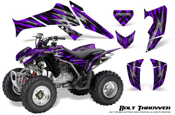Honda TRX250 06 09 CreatorX Graphics Kit Bolt Thrower Purple 570x376 - Honda TRX 250EX 2006-2018 Graphics