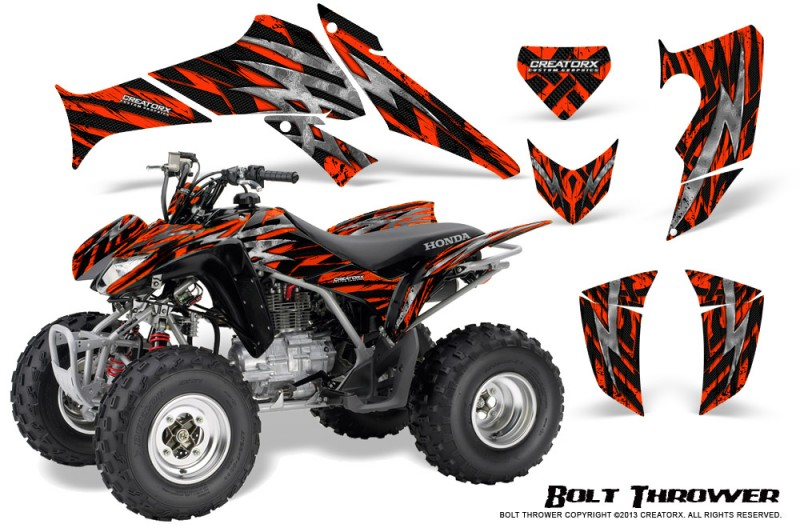 Honda-TRX250-06-09-CreatorX-Graphics-Kit-Bolt-Thrower-Red