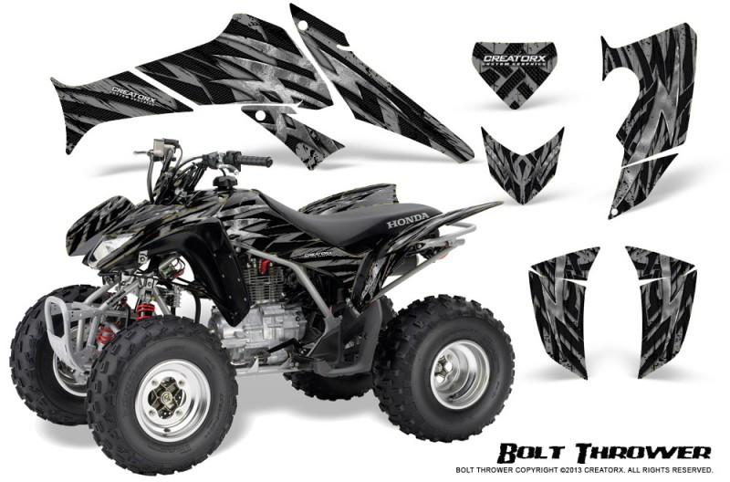 Honda-TRX250-06-09-CreatorX-Graphics-Kit-Bolt-Thrower-Silver