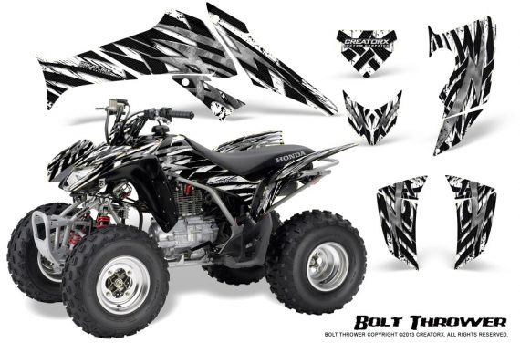 Honda TRX250 06 09 CreatorX Graphics Kit Bolt Thrower White 570x376 - Honda TRX 250EX 2006-2018 Graphics