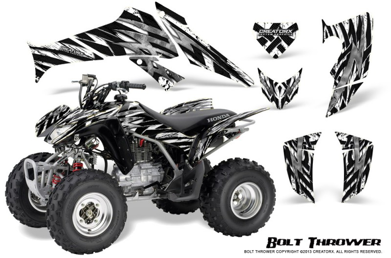 Honda-TRX250-06-09-CreatorX-Graphics-Kit-Bolt-Thrower-White