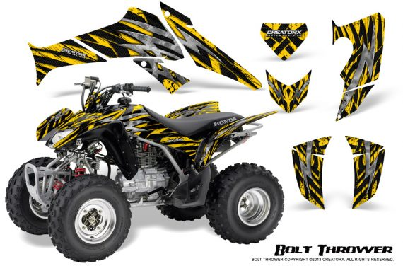 Honda TRX250 06 09 CreatorX Graphics Kit Bolt Thrower Yellow 570x376 - Honda TRX 250EX 2006-2018 Graphics