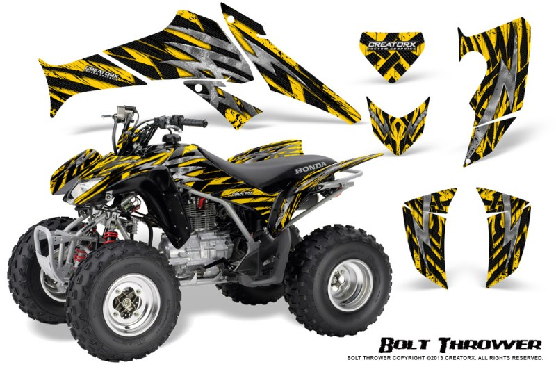Honda-TRX250-06-09-CreatorX-Graphics-Kit-Bolt-Thrower-Yellow