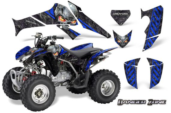 Honda TRX250 06 09 CreatorX Graphics Kit Danger Zone BLB 570x376 - Honda TRX 250EX 2006-2018 Graphics