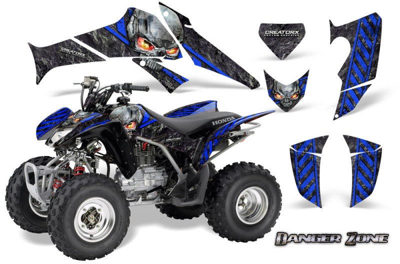 Honda-TRX250-06-09-CreatorX-Graphics-Kit-Danger-Zone-BLB