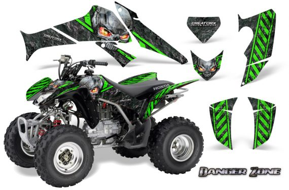 Honda TRX250 06 09 CreatorX Graphics Kit Danger Zone GB 570x376 - Honda TRX 250EX 2006-2018 Graphics