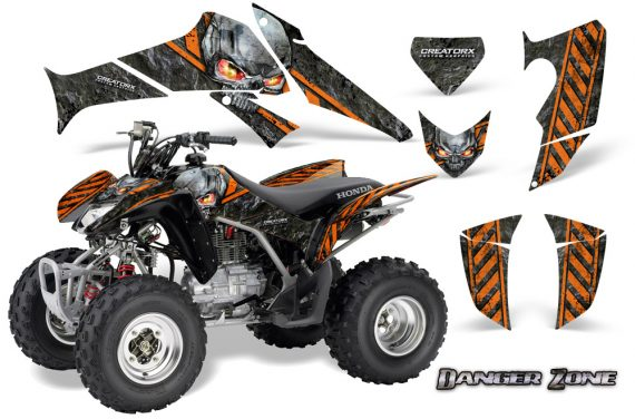 Honda TRX250 06 09 CreatorX Graphics Kit Danger Zone OB 570x376 - Honda TRX 250EX 2006-2018 Graphics