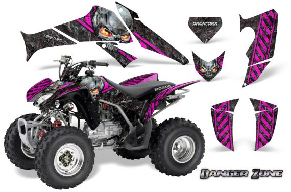 Honda TRX250 06 09 CreatorX Graphics Kit Danger Zone PB 570x376 - Honda TRX 250EX 2006-2018 Graphics